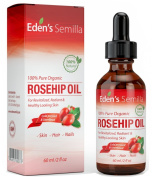 100% Pure Rosehip Oil - 60ml - Certified ORGANIC - Revitalises Skin & Hair - Clinically Proven - Natural / Cold pressed & unrefined - NON Greasy HIGH absorbency - Use daily - Anti ageing, nourishes, hydrates and visibly reduces fine lines, scars, stret ..