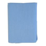 Lullaby Dreams Flannelette Cot Sheet Set Plain Light Blue