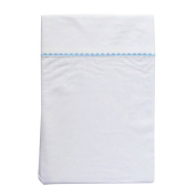 Baby Dwell Embroidered Cot Sheet Set Blue