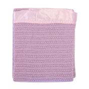 Lullaby Dreams Pure Wool Baby Blanket Pink