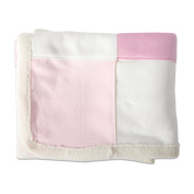 Lullaby Dreams Patchwork Baby Blanket Pink
