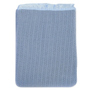 Lullaby Dreams 100% Pure Wool Cot Blanket Blue