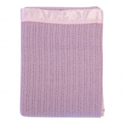 Lullaby Dreams 100% Pure Wool Cot Blanket Pink