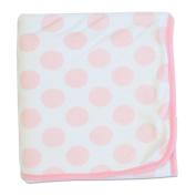 Bubba Blue Polka Dot Cuddle Blanket Pink