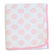Bubba Blue Polka Dot Cuddle Blanket Pink