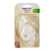 Happy Baby Latex Cherry Soother 3-6m 3 Pack White