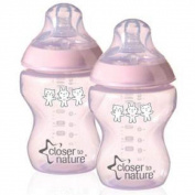 Closer To Nature 260ml DEC Bottle Twin Pack Pink