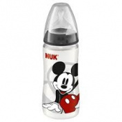 NUK Micky Mouse Polyprop 300ml Bottle Charcoal