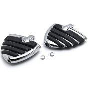 Rider Front Passenger Footrests Foot Pegs Motor Foot Rests 2PCS Fit For Suzuki Intruder 1400/ Boulevard S83 1995 1996 1997 1998 1999 2000 2001 2002 2003 2004 2005 2006 2007 2008