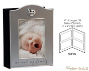 "Bambino Baby Christening Gifts. Silverplated Rocking Horse Icon Photo Album ""Me & My Family"""
