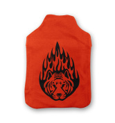 Tiger Flames Hot Water Bottle Cover