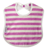 Silly Billyz Organic Stripe Large Bib Plum