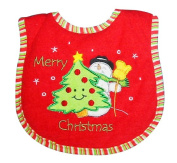 Babyco 2 Plys Christmas Bib Red