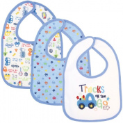 Babyco 3 pack bibs blue