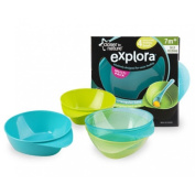 Closer To Nature Easy Scoop Feeding Bowl 4 Pack Blue
