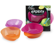 Closer To Nature Easy Scoop Feeding Bowl 4 Pack Pink