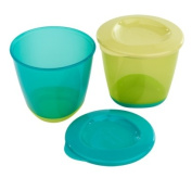 Closer To Nature Pop Up Weaning Pots 2 Pack Blue
