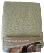 Double Fitted Fleecy Underblanket Mattress Protector