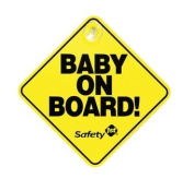 Safety First Baby On Board Sign Yellow