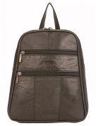 Milano Patch Leather Backpack, Black