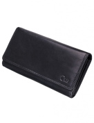 Carte Cowhide Inside Cheque Book Wallet