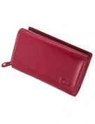 Carte Cowhide Medium Trifold Wallet, Red