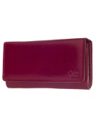 Carte Cowhide Inside Cheque Book Wallet, Red