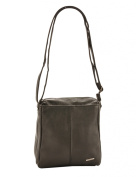 Milano Patch Leather Card Case Cross Body Bag, Black