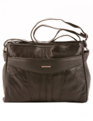 Milano East/West Front Pocket Small Cross Body Bag, Black.