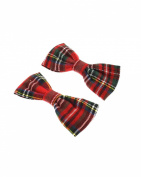 Zac's Alter Ego® Small Tartan Bows on Crocodile Clip