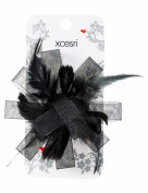 Xcesri Feather Rosette Clip, Black