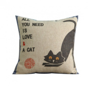 Wensltd Pillow Case Funny Words Cartoon Pattern Stylish Pillow Causion