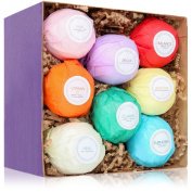 8 Bath Bombs Lush - Bath Bombs Kit - USA Made Gift Set - Best of Relaxation Gifts - Enjoyable than Bath Beads & other Bath Products - Can add to bath bubbles - Best Relaxation Kit - Great Bath Basket