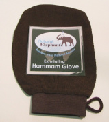 Natural Elephant Exfoliating Hammam Glove - Face and Body Exfoliator Mitt