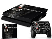 Ps4 Playstation 4 Console Skin Decal Sticker Terminator + 2 Controller Skins Set