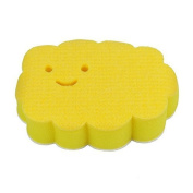 aisen Creative Cleaning Technology Naturally Adhering Sponge Yellow Smiling Cloud by aisen