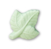 Pale Green Leaf Shaped Soap Bar, Green Lemon Scented, Dr. Melumad - Dead Sea Cosmetics, Vegan, 15ml, 10g