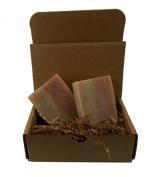 Cherry Almond Beard, Body & Hair Soap, Handmade & Vegan / 2 Bars