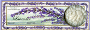 Saponificio Artigianale Fiorentino Lavande (Lavender) Bath Soap, 3 x 130ml