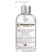 Maywood Creek Essentials Ingrown Hair Treatment for Women & Men - 240ml Organic Citrus Herb Formula for Razor Bumps, Razor Burn & Ingrown Hairs - Purifies, Disinfects & Soothes the Skin