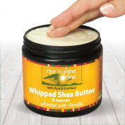 240ml Vanilla Whipped Pure Raw African Shea Butter Cream. 100% Natural, Organic, Moisture for Soft Skin and Natural Hair - Improves Blemishes, Stretch Marks and Scars