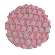 Lt. Pink Bun Cover with 9 rhinestones Lt.Pink by Fashion Every Day
