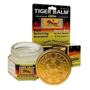 Tiger Balm Ultra Strength Pain Relieving Ointment/Sports Rub (Non-Staining) 20ml (18g) Jar - 12 boxes by Tiger Balm