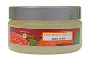 Bamboo Island Exfoliating EuroSpa Sea Salt Body Scrub, 240ml, Strawberry Guava