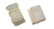Aquis 10cm x 80cm Linen Exfoliating Back Scrubber and 30cm x 30cm Linen Exfoliating Washcloth