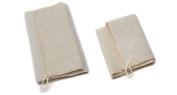 Aquis 25cm x 90cm Linen Exfoliating Shower Towel and 30cm x 30cm Linen Exfoliating Washcloth