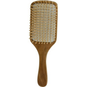 SPA ACCESSORIES by Spa Accessories WOOD BRISTEL HAIR BRUSH - BAMBOO PADDLE for WOMEN ---
