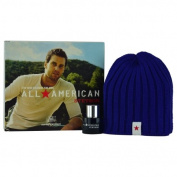 ALL AMERICAN STETSON by Coty COLOGNE SPRAY 30ml & SKI CAP for MEN ---