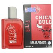NBA BULLS by Air Val International RED EDT SPRAY 100ml for MEN ---