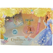 CINDERELLA by Disney EDT SPRAY 30ml (MOVIE EDITION) & LIP GLOSS & EYE SHADOW & CLUTCH for WOMEN ---